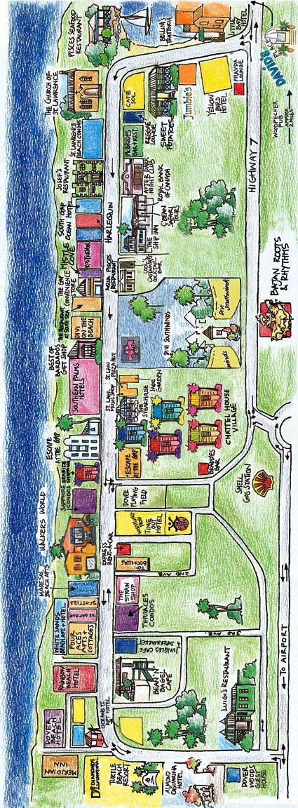St. Lawrence Gap Map