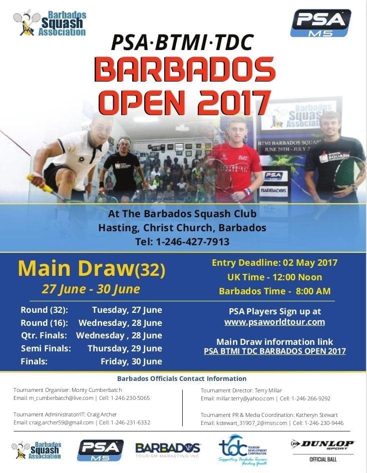 Barbados Squash Open 2017
