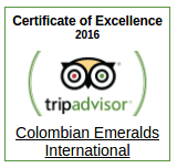 TripAdvisor Certificate of Excellence - Colombian Emeralds International