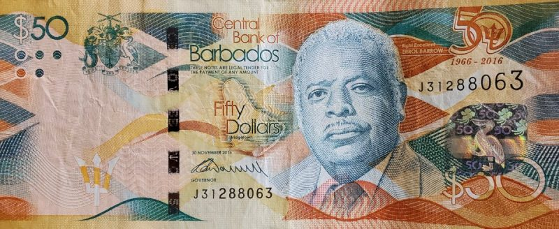Fifty ($50) Barbados Dollars