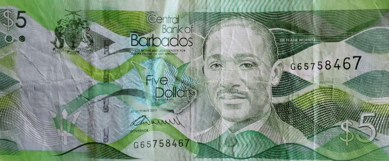 Five ($5) Barbados Dollars