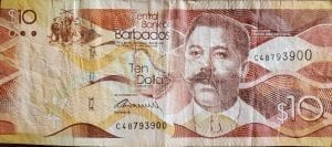 Ten ($10) Barbados Dollars