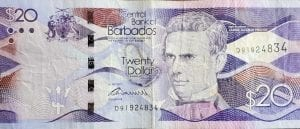 Twenty ($20) Barbados Dollars