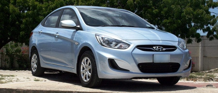 Drive around in a top class Hyundai Accent from Bajan Car Rentals.