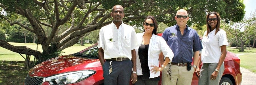 The excellent staff at Bajan Car Rentals.