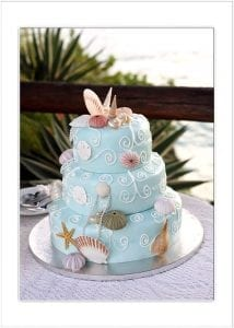 Barbados Weddings Seashell Cake