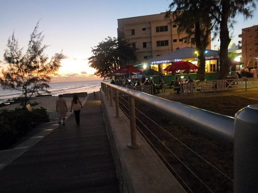 Take a romantic stroll on the boardwalk after dinner at Blakey's.