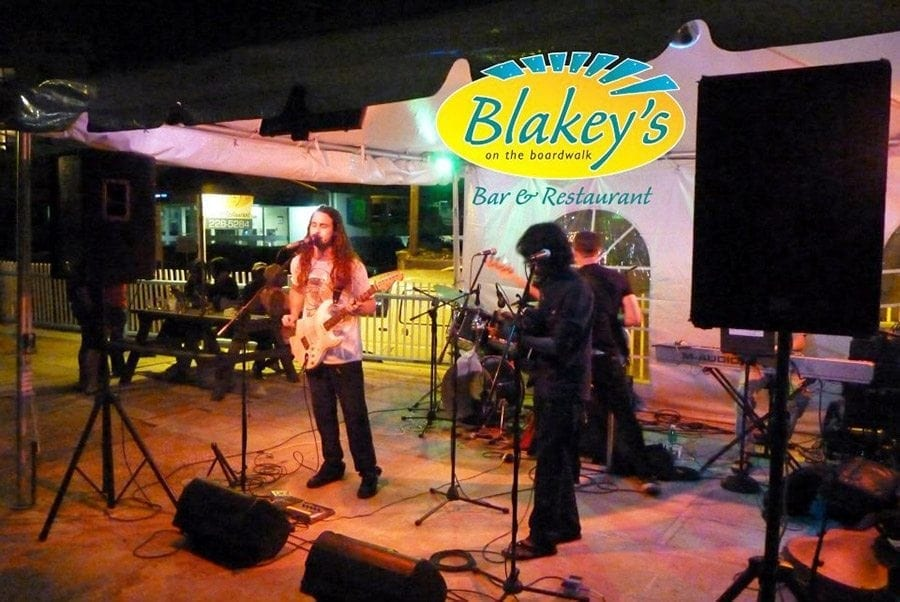 Live entertainment is always on deck at Blakey's on the Boardwalk.
