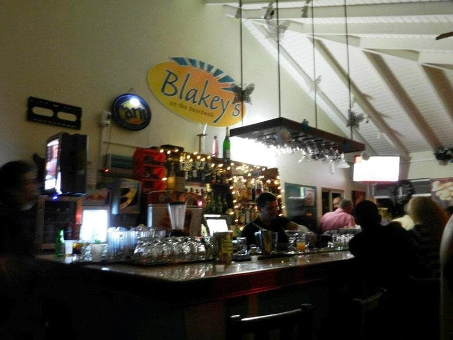 Stop by for a drink and live atmosphere at Blakey's on the Boardwalk.