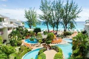 Bougainvillea Beach Resort Pools and Ocean View.