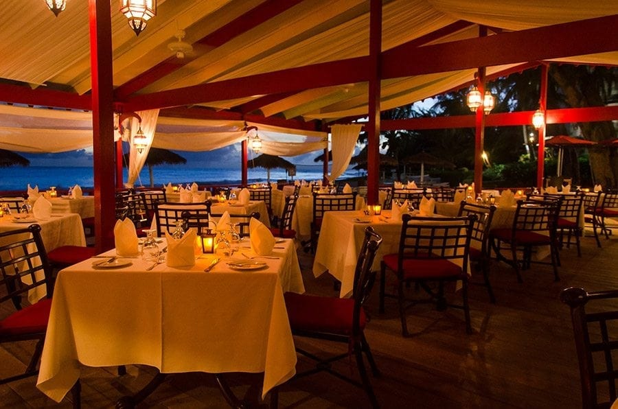Bougainvillea Beach Resort's Lanterns by the Sea Restaurant offers tantalizing local flavours of Barbados cuisine against the backdrop of breath-taking South Coast ocean views.