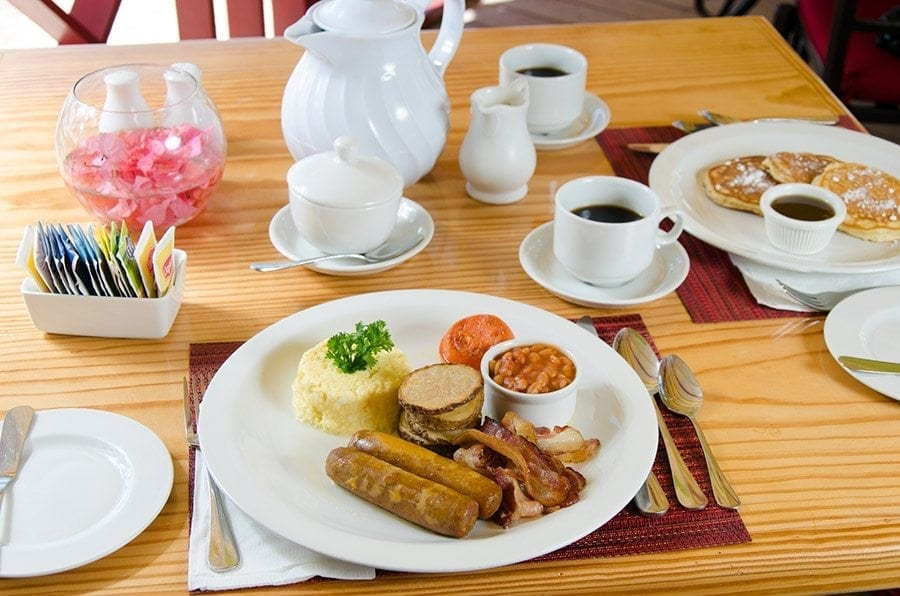 Enjoy a full breakfast while you stay at Bougainvillea.