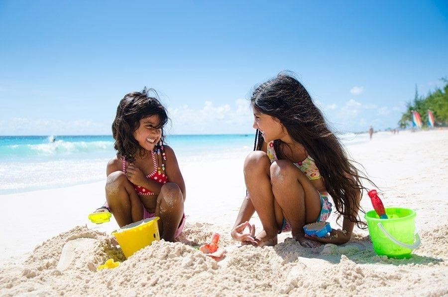 Family beach fun at Bougainvillea's Maxwell Beach.