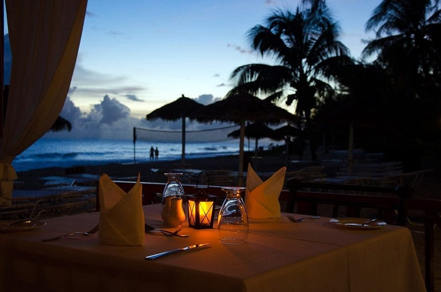 Bougainvillea Beach Resort Barbados Lanterns by the Sea Restaurant opens daily for breakfast, lunch and dinner service and features a Thursday night Caribbean Buffet and show.