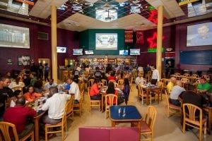 Bubba's Sports Bar & Restaurant has seating at the bar, in the 'Pit' and on the upper level with 12 flat screen TV.