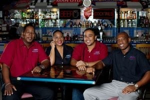 The service and friendly staff at Bubba's Sports Bar are all Cheers!