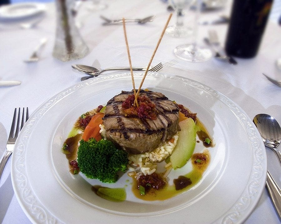 Award Winning Excellence Culinary experience South Coast at Champers Restaurant & Wine Bar.