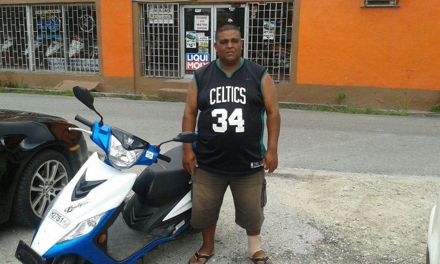 """Alvin James - Guyana - """"I have many scooters in Guyana and haojue rides like a dream, paradise scooter rentals service is like no other, ill definitely be coming back."""""""
