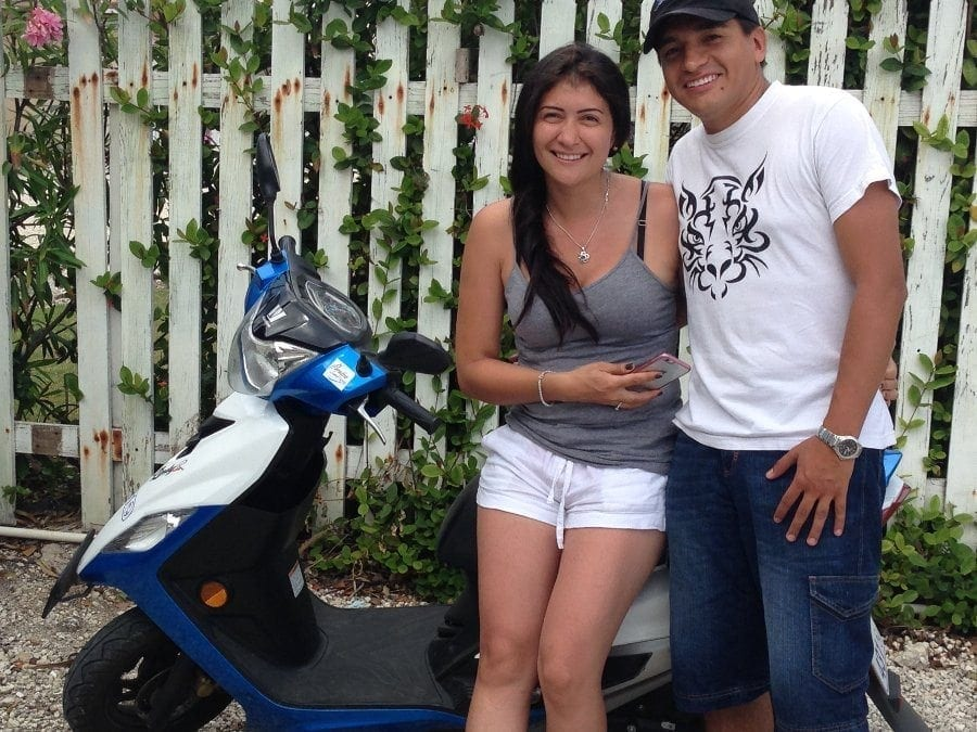 Vivian Vivas - Columbia - enjoyed a reliable scooter that took them to each destination safely.