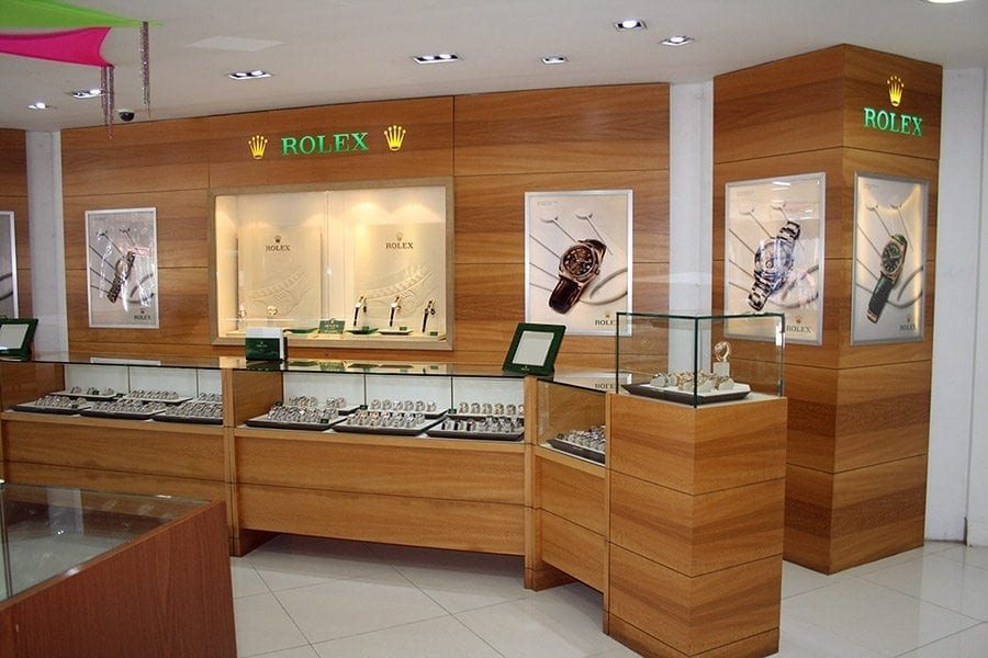 Rolex watches are available in the Barbados Royal Shop.