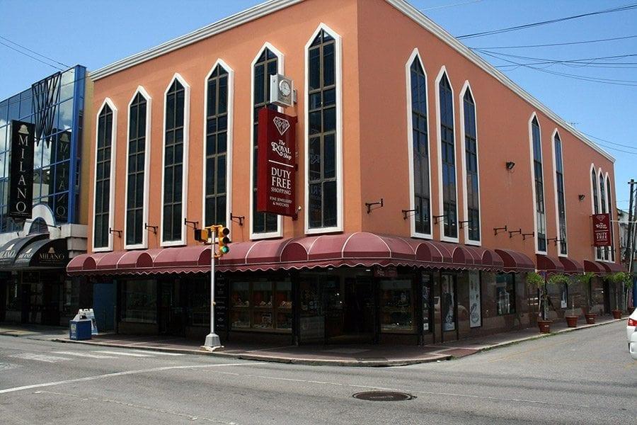 Exterior of the Barbados Royal Shop located in Bridgetown Barbados.