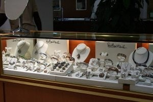 Show Case of Jewelry in Barbados.
