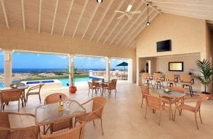Interior of Club House amidst a tranquil setting at Vuemont Barbados at Mount Brevitor in the parish of St. Peter.