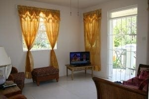 Bright uncluttered living area - Miri-Joy Apartments Barbados.