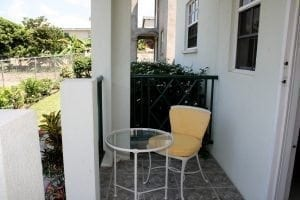 Relax in tranquil comfort on your Miri-Joy Apartment patio.