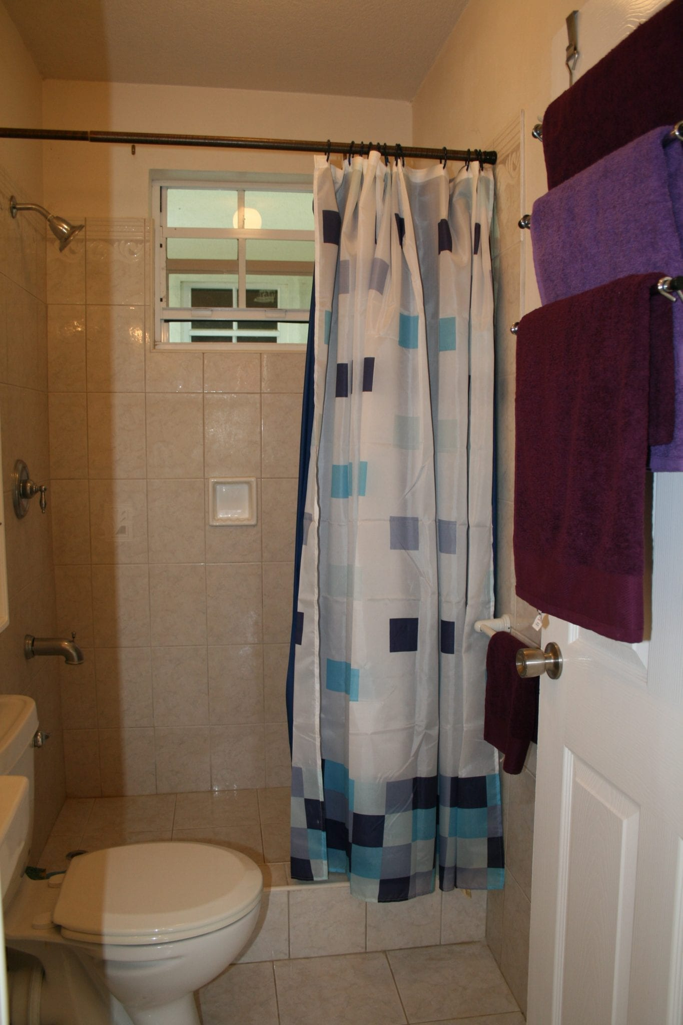 Miri-Joy Apartments Barbados - Bathroom with shower.