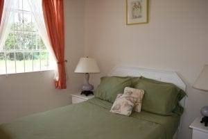 Comfortable double bedroom - Miri-Joy Apartments Barbados.