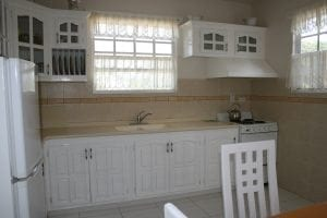 Miri-Joy Apartments Barbados - kitchen fully fitted with all appliances.