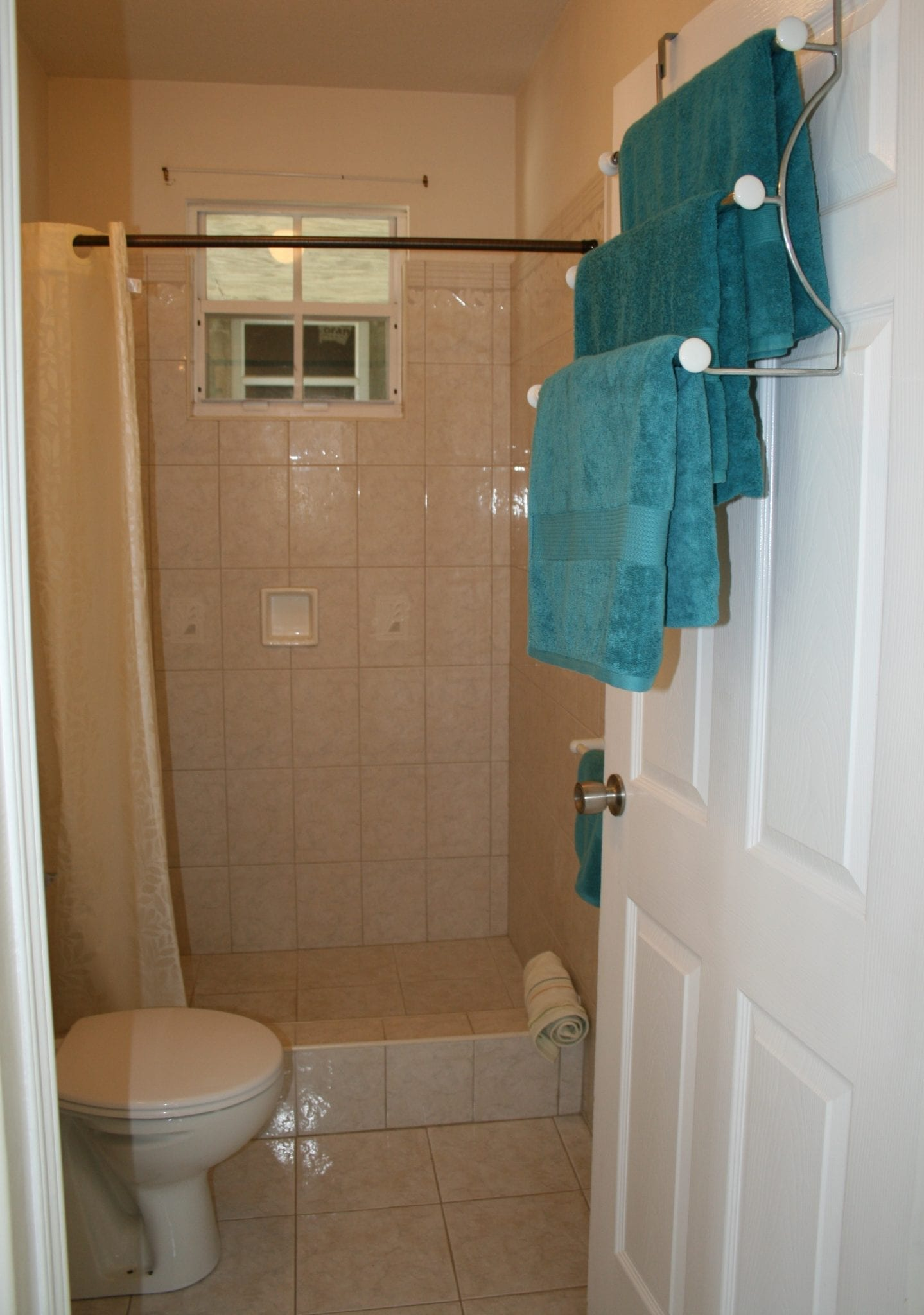 Bathroom with shower - Miri-Joy Apartments Barbados.