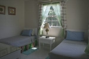 The spacious Miri-Joy Apartments offer a double bedroom and a twin bedded room.