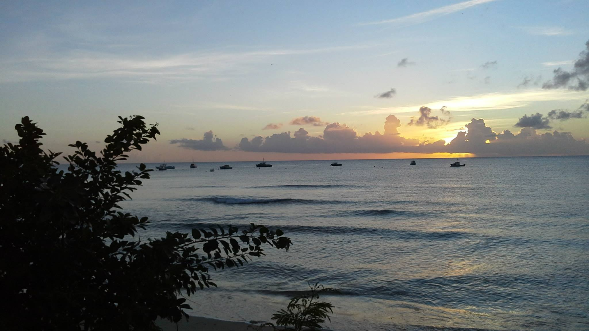 Miri-Joy Apartments Barbados beautiful sunset views over the Caribbean Sea.