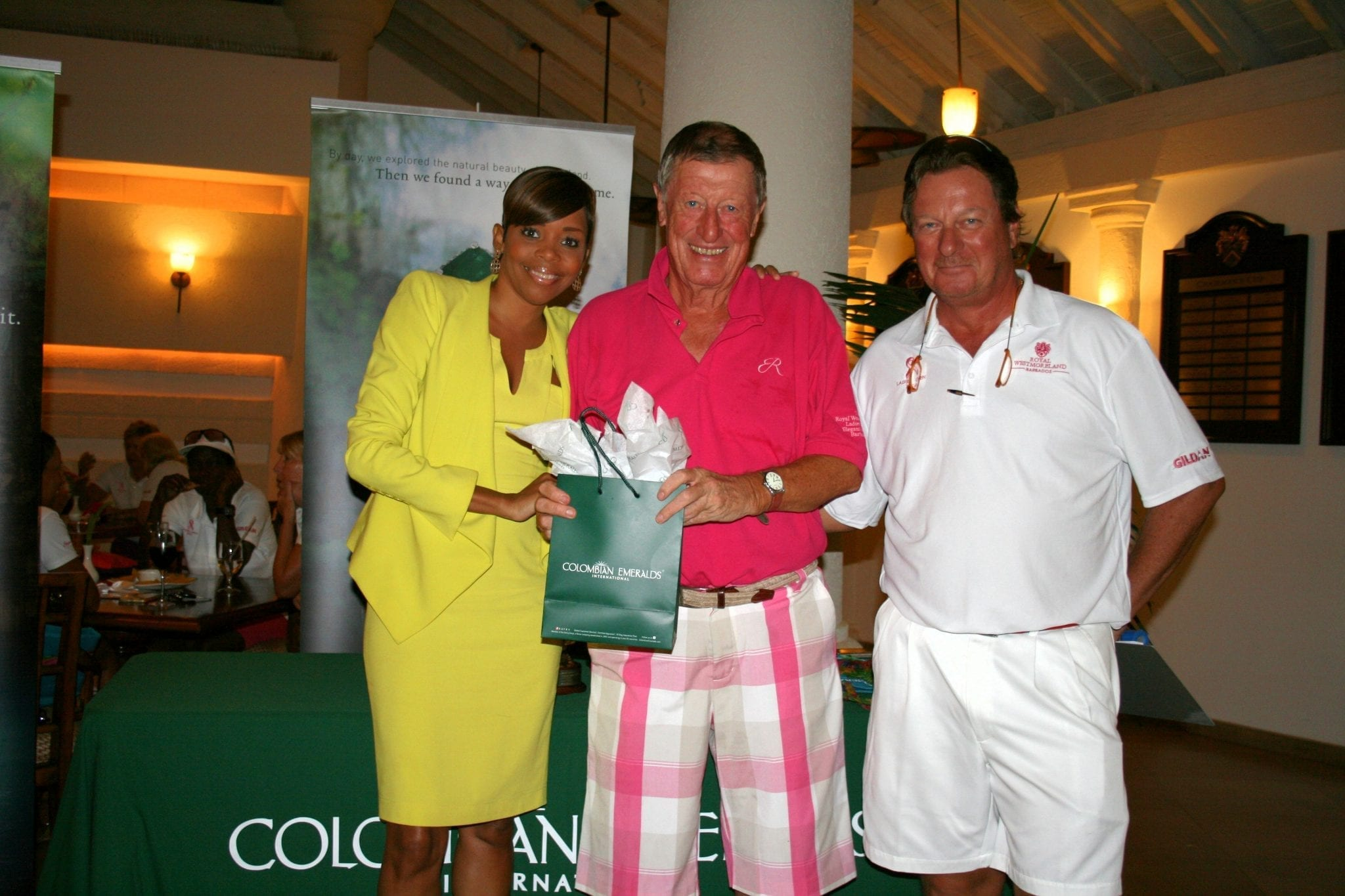 Supporting Golf in Barbados - Colombian Emeralds International.