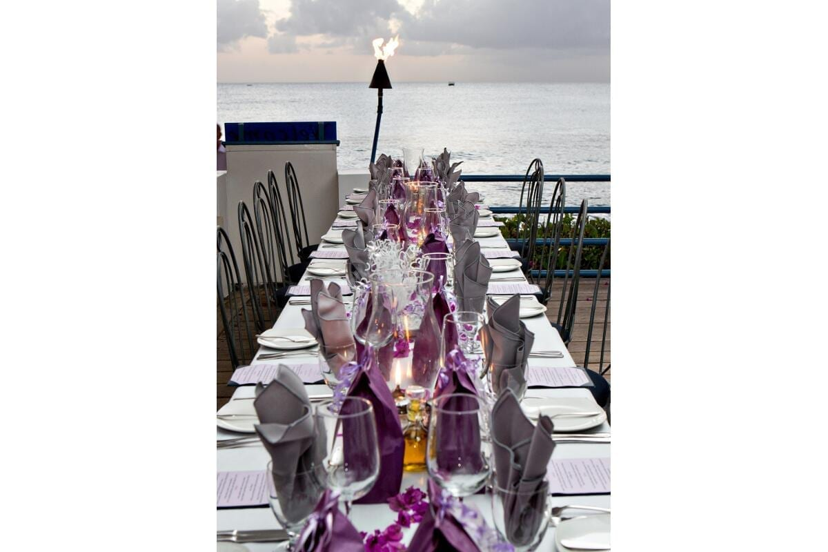 Sunset wedding décor by Barbados Weddings…beyond your imagination!!