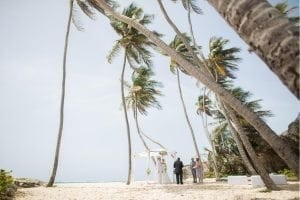"Barbados beach wedding ""I do""."
