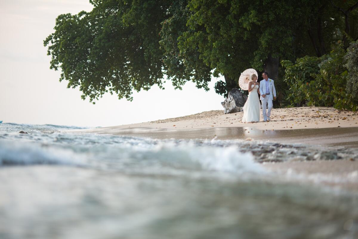 Beautiful Barbados beach wedding elegance.