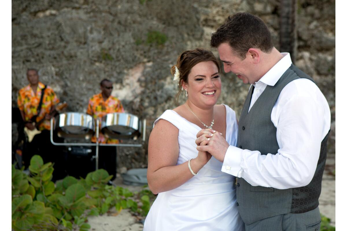Celebrate your barefoot beach nuptials in Barbados to the sounds of a tropical steel band.