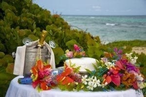 Beautiful Barbados beach wedding simplicity.