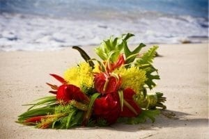 Barbados Weddings…beyond your imagination tropical island flower bouquet.