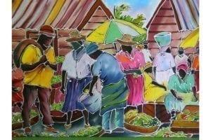 Street Market Themed Batik