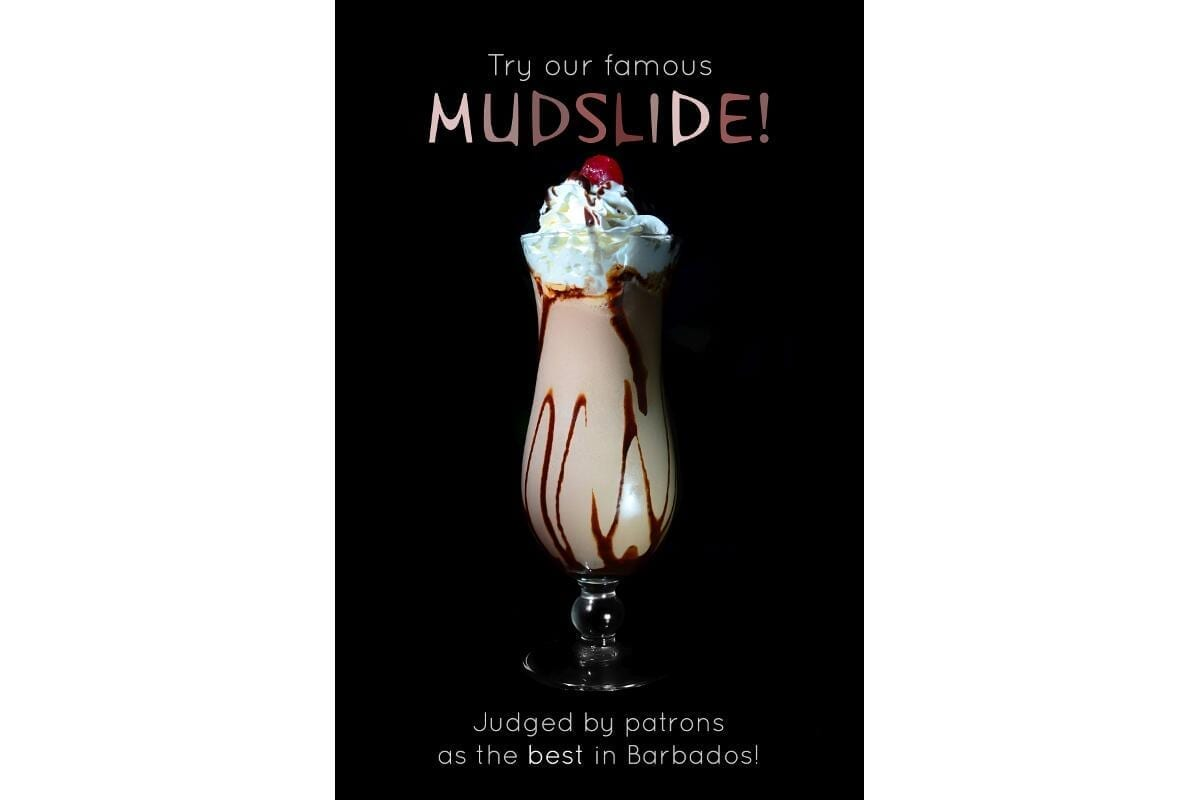 Lucky Horseshoe Barbados Mudslide - voted the best in Barbados.