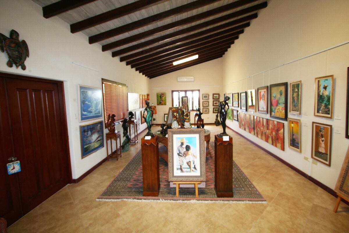 Barbados Art Gallery at Sugar Cane Club Hotel and Spa.