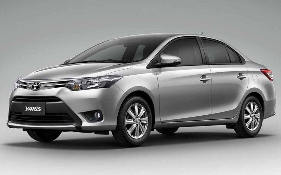 Toyota Yaris Deluxe Sedan available to get you around Barbados.