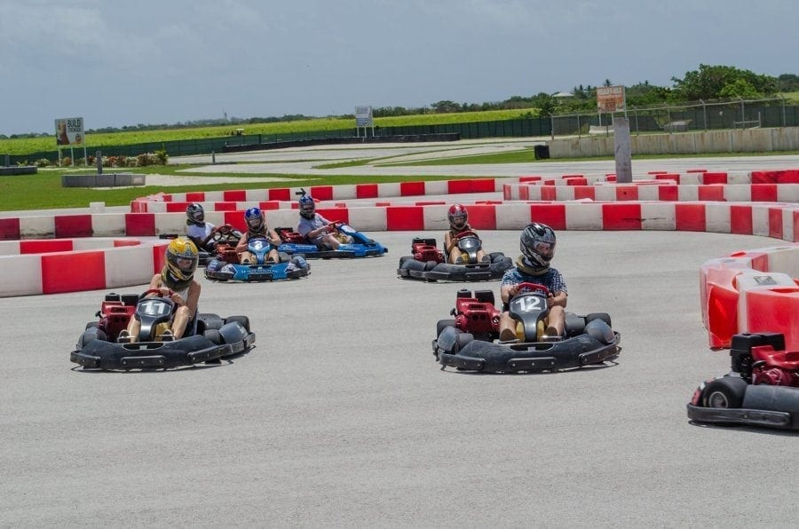 Karting in Barbados at Bushy Park.