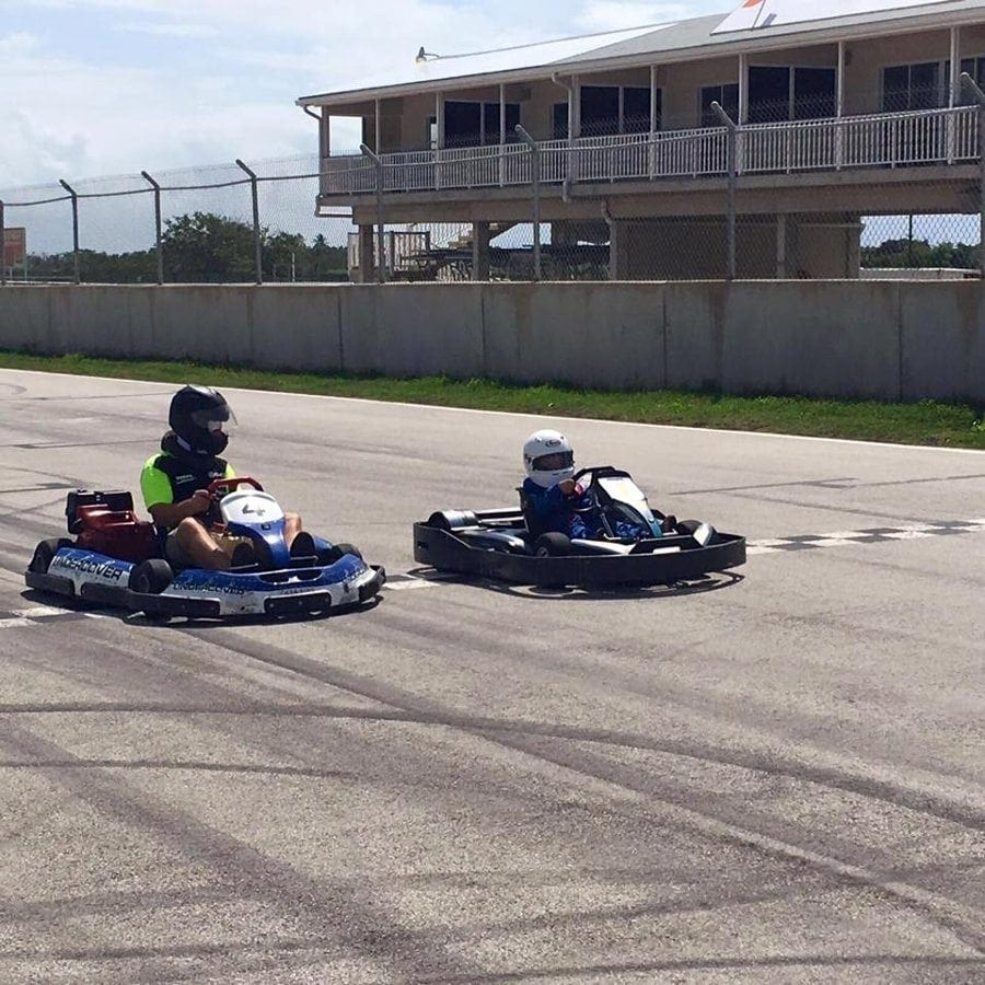 Go Karts in Barbados at Bushy Park Racing Circuit.