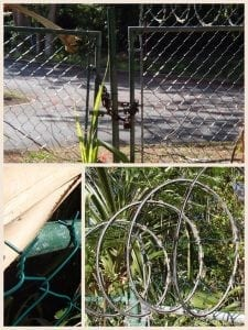 Barbados Experiences - Barbed Wire and Locked Gate