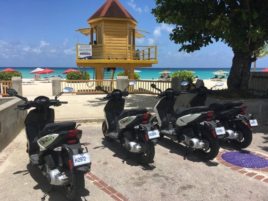 Ideal places to go in Barbados on an Island Scooter.